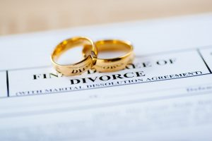 wedding rings and divorce decree